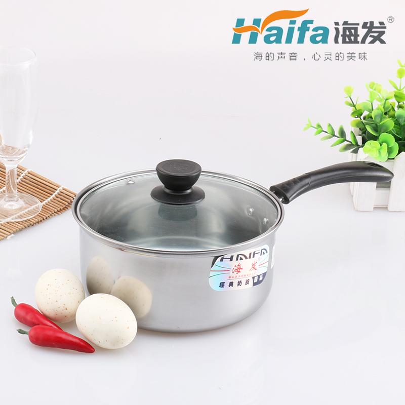 经典单柄玻璃盖奶锅(彩盒装/普通盒装)